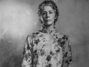 Kickass Carol. Don't look at the flowers on that jumper