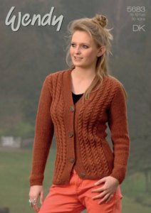 Woman in brown cardigan